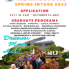 2022 Spring Admission for International Degree Students